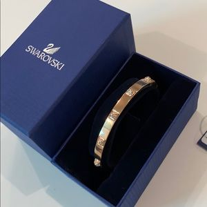 Swarovski Rose Gold Bangle with Crystals